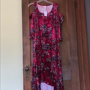 Nwt printed cold-shoulder dress Macy's size 2x